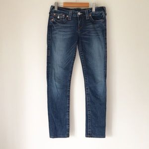 TRUE RELIGION BECKY LOW RISE MEDIUM WASH JEANS